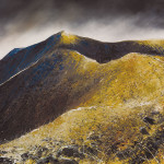 """Blencathra. I lift my eyes up"", Watercolour, 22 x 29 inches - Painting by Rory Browne"