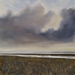 """Norfolk Sky"" Oil on canvas 36 x 36"" - A painting by Rory Browne"