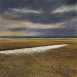 """Evening sky, Norfolk"" Oil on canvas 24 x 24"" - A painting by Rory Browne"