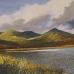 """Kelly Hall Tarn - top of Torver Common"" Mixed Media 21 x 29"" - a painting by Rory Browne"