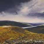 """Coniston from Wetherlam"" Mixed media 21 x 29"" - A painting by Rory Browne"
