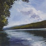 """Lake shore Coniston"" 8 x 7"" Mixed Media A Painting by Rory Browne"