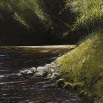 """There is a river, Psalm 46"" A painting by Rory J Browne"