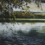 """His faithfulnes , Lake"" A painting by Rory J Browne"