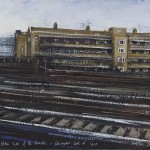 """Other side of the tracks"" A painting by Rory J Browne"