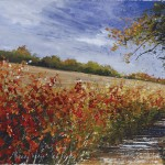 """A Maz View - Beech Hedge"" A painting by Rory J Browne"