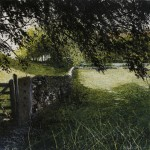 """The Gate, Coniston"". Mixed media: a painting by Rory J Browne"