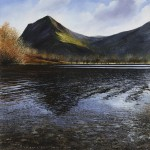 "Buttermere. Psalm 121. Oil on canvas 30 x 30"" A painting by Rory Browne"