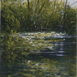"""Monet's pond"" Mixed media. A painting by Rory Browne"