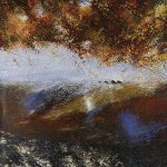 """Autumn Shore Line"" Oil on canvas. 122 x 122cm A painting by Rory Browne"