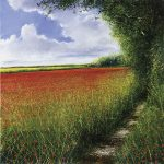 """Edge of the Poppy Field"" Oil on canvas. A painting by Rory Browne"