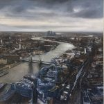 """""""As for man. Glorious London. Psalm 103."""" Mixed Media. 122 x 122cm A painting by Rory Browne"""