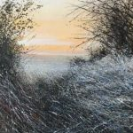 """""""Evening frost."""" Oil. 25 x 25 cm A painting by Rory Browne"""