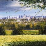 """""""View from Hampstead Heath"""" Mixed Media: A painting by Rory Browne"""