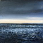 """""""Out to sea."""" Oil. 20 x 20 cm A painting by Rory Browne"""