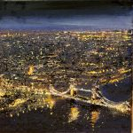 """""""Tower Bridge from the shard."""" A painting by Rory Browne"""